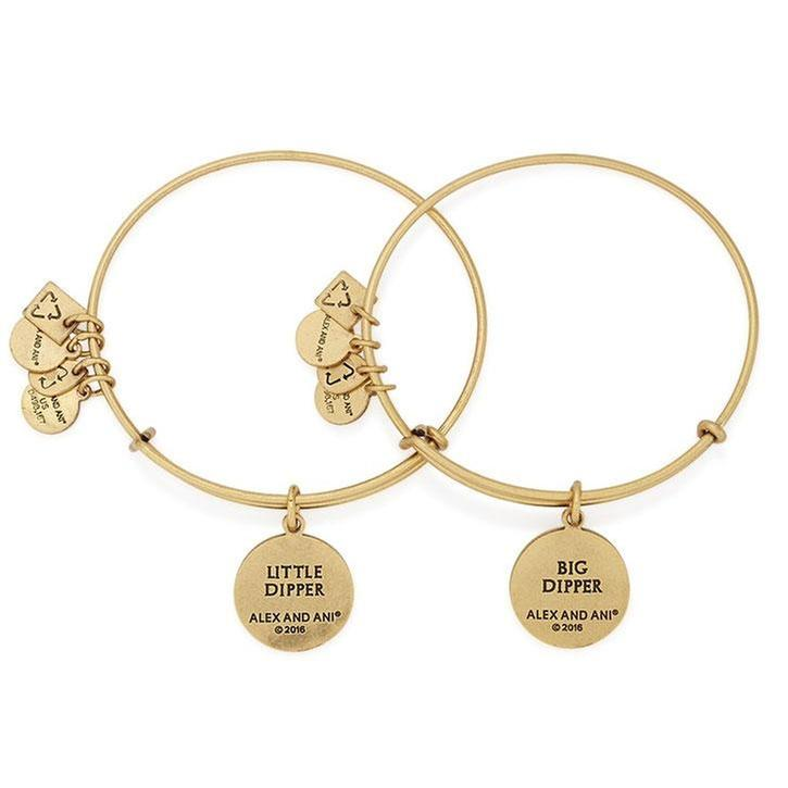 Alex and Ani Big and Little Dipper Set of 2 Bangle Charm Bracelets