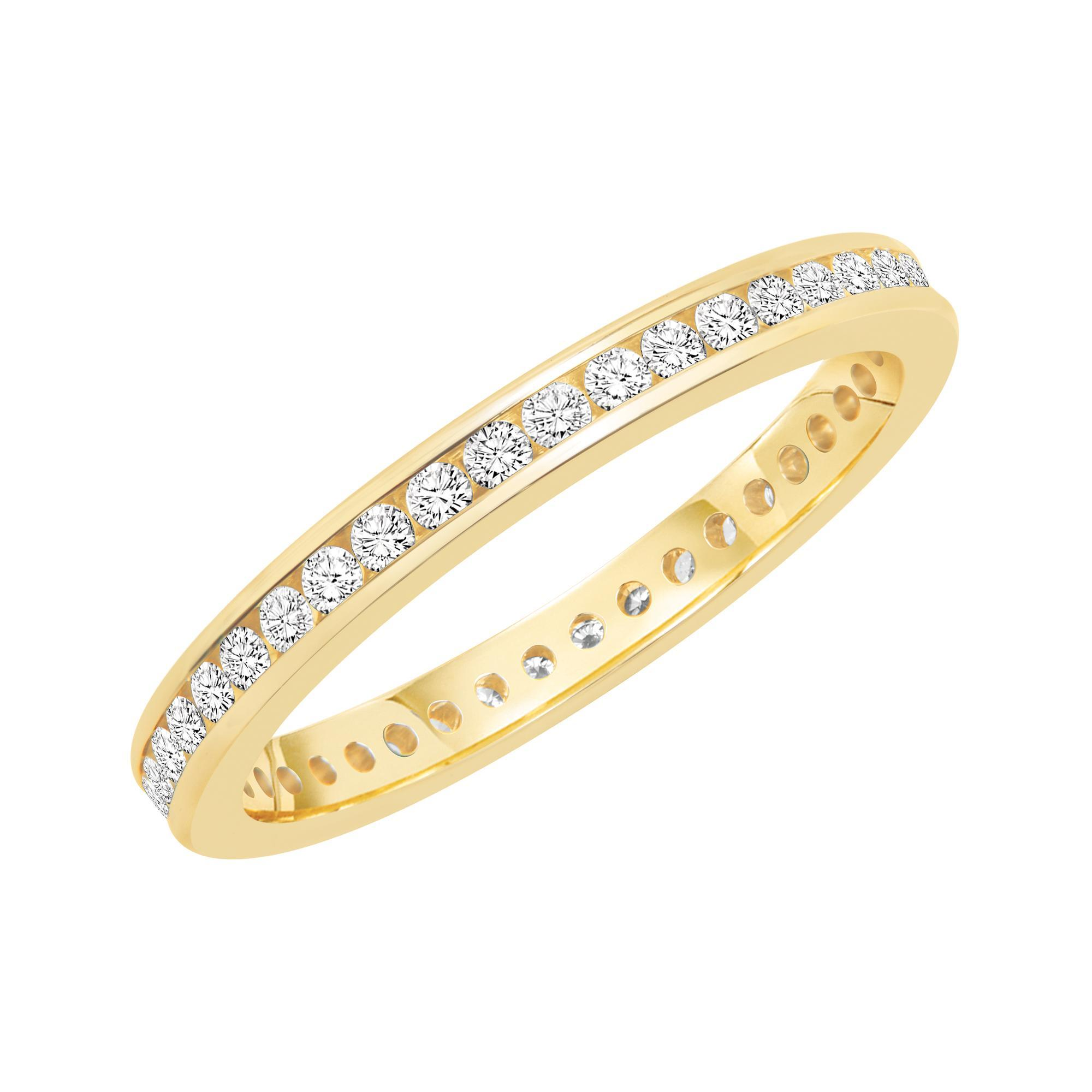 Channel Set Round Diamond Eternity Band 1/2ctw