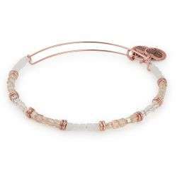 Alex and Ani Birch Temple Beaded Bangle - Rafaelian Rose Gold Finish