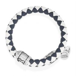 Alex and Ani New York Yankees Braided Leather Wrap - Rafaelian Silver Finish