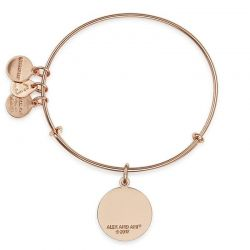 Alex and Ani You Are Enough Charm Bangle - Shiny Rose Gold Finish