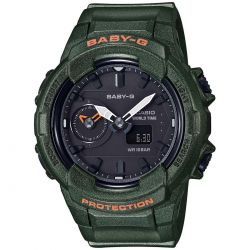 Casio Baby-G Khaki Green Resin Watch Unisex BGA230S-3A