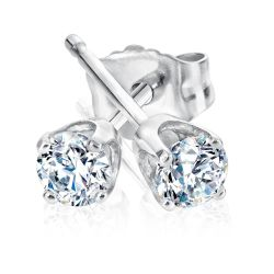 Diamond Solitaire Earrings 1/4ctw