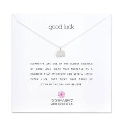 Dogeared Good Luck Elephant Necklace, Sterling Silver