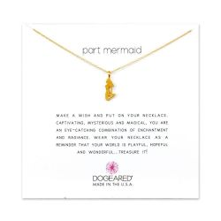 Dogeared Part Mermaid Enchanted Mermaid Necklace, Gold Plated