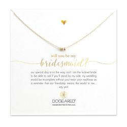 Dogeared Will You Be My Bridesmaid Stardust Bead Necklace