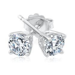 Exclusive REEDS ECONIC Lab Grown Diamond Solitaire Earrings 3/4ctw with IGI Grading Report