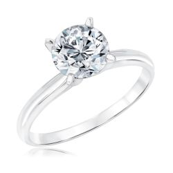 Exclusive REEDS ECONIC Lab Grown Round Diamond Solitaire Engagement Ring 2ct with IGI Grading Report
