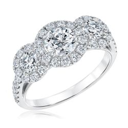 Forevermark Center of My Universe Round Three Diamond Halo Ring 1 7/8ctw
