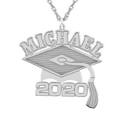 Graduation Name Date Necklace 28x23mm