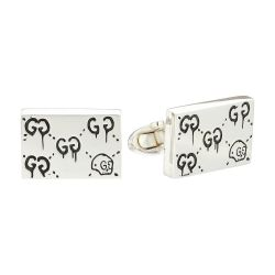 Gucci Sterling Silver Ghost Motif Cufflinks