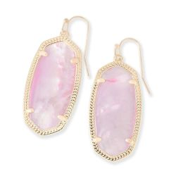 Kendra Scott Elle Earrings in Blush Mother-of-Pearl in Gold Plated