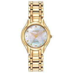 Ladies' Citizen Eco-Drive Gold Tone Silhouette Watch