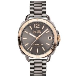 Ladies COACH Tatum Grey Ion-Plated Stainless Steel Watch