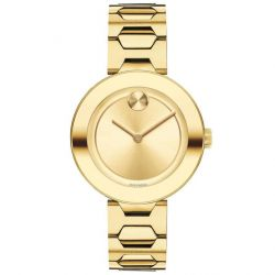 Ladies' Movado BOLD Yellow Gold-Tone Stainless Steel Watch 3600382