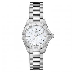 Ladies' TAG Heuer AQUARACER 27mm White Mother-of-Pearl Dial Watch WBD1411.BA0741