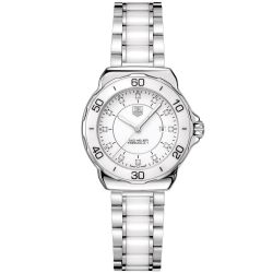 Ladies' TAG Heuer FORMULA 1 Steel and Ceramic Diamond Dial Watch