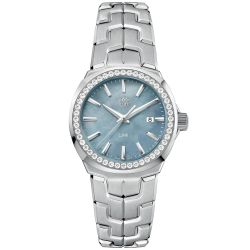 Ladies' TAG Heuer LINK Grey Mother of Pearl Dial and Diamond Bezel Watch WBC1315.BA0600