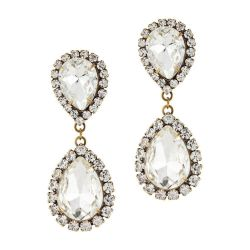 Loren Hope Abba Earrings in Crystal