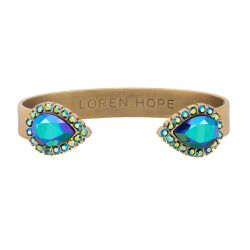 Loren Hope Small Sarra Cuff Bracelet in Jet Iridescent