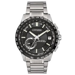 Mens Citizen Eco-Drive Satellite Wave World Time GPS Watch