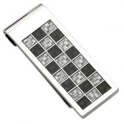 Men's Stainless Steel Carbon Fiber Money Clip