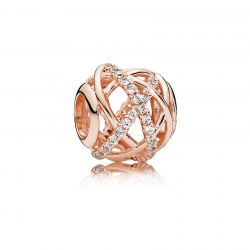 PANDORA Rose Galaxy Charm, Clear Cubic Zirconia