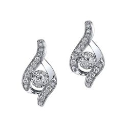 Sirena Diamond Bypass White Gold Stud Earrings 1/3ctw