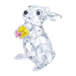 Swarovski Crystal Rabbit with Yellow Easter Egg