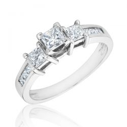 Three Stone Diamond Ring 1ctw