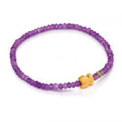 TOUS Bear Super Micro Amethyst and Peridot Bracelet