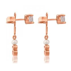 TOUS Rose Gold Plated Eklat Earrings with Topaz and Freshwater Cultured Pearl