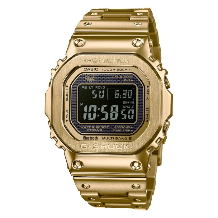 size 40 23e52 a84c2 Casio G-Shock Gold-Tone Full Metal Digital Connected Watch GMWB5000GD-9