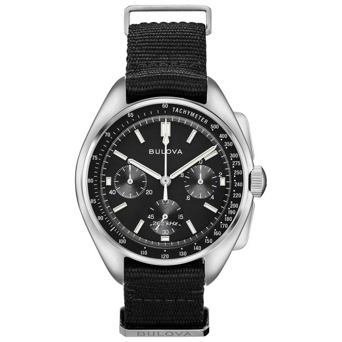 9d497cbc9 Men's Bulova Archive Series Lunar Pilot Chronograph Watch 96A225 | REEDS  Jewelers