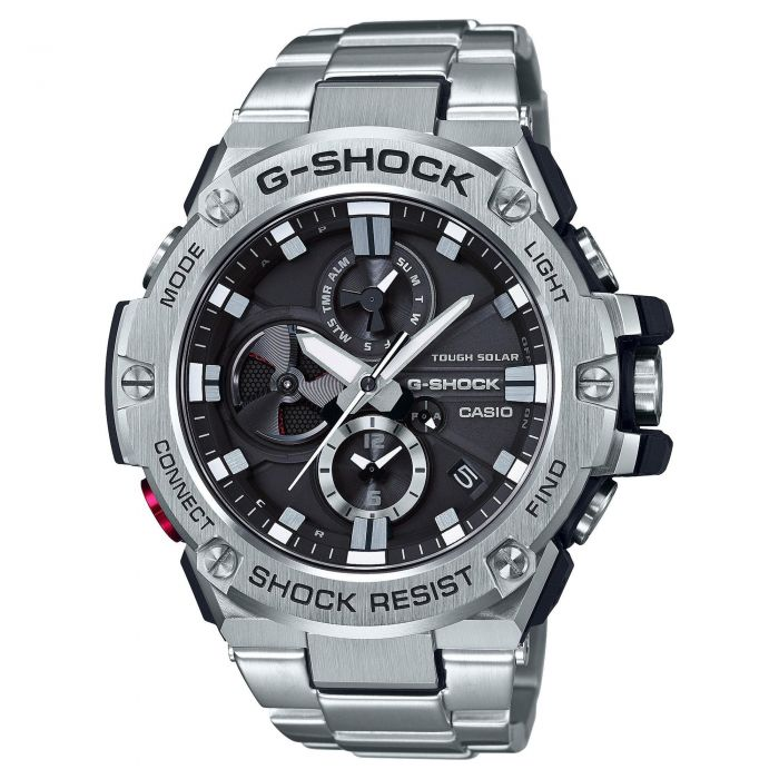 Men S Casio G Shock G Steel Connected Bracelet Watch Gstb100d 1a