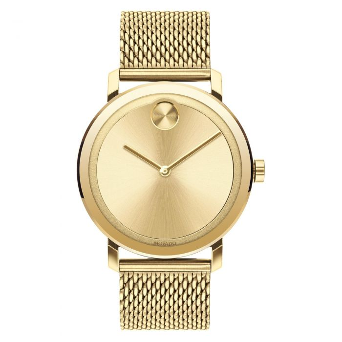 Men S Movado Bold Evolution Gold Toned Stainless Steel Watch 3600560