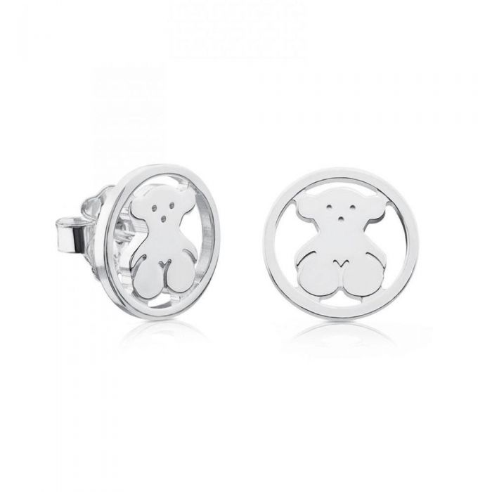 2ff8662c674d8 TOUS Large Camille Bear Sterling Silver Stud Earrings