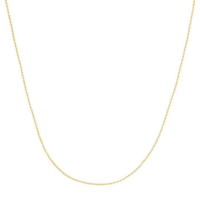 10K Solid White Gold Llite Rope Chain 18 Inch