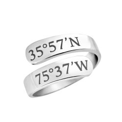 """Mappable Moments"" Coordinates Wrap Ring"