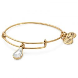 Alex and Ani April Drop Charm Bangle Bracelet - Rafaelian Gold Finish