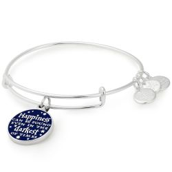 Alex and Ani Harry Potter Happiness Can Be Found Charm Bangle Bracelet - Shiny Silver Finish