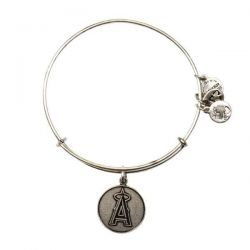 Alex and Ani Los Angeles Angels Cap Logo Charm Bangle - Rafaelian Silver Finish