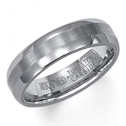 ArtCarved Grey Tungsten Carbide Comfort Fit Band 6mm