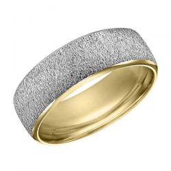 ArtCarved Two-Tone Textured Band 7mm