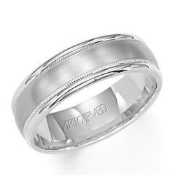 ArtCarved White Gold Comfort Fit Band 6.5mm
