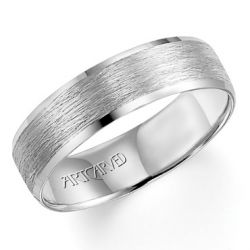 ArtCarved White Gold Comfort Fit Band 6mm