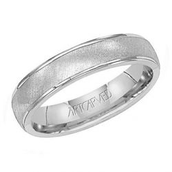 ArtCarved White Gold Comfort Fit Band 5mm