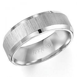 ArtCarved White Tungsten Carbide Comfort Fit Band 7.5mm