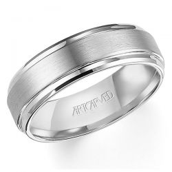 ArtCarved White Tungsten Carbide Comfort Fit Band 7mm