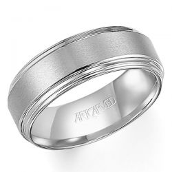 ArtCarved White Tungsten Carbide Comfort Fit Band 8mm